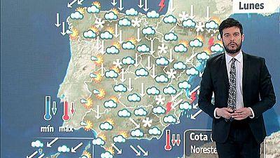 Fuertes lluvias en el Cantábrico y en Levante, y bajada notable de temperaturas en toda la península