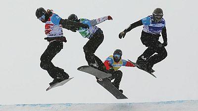 El dúo formado por Lucas Eguibar y Regino Hernández se han proclamado campeones del mundo de boardercross por equipos en los Mundiales de snowboard de Sierra Nevda 2017.