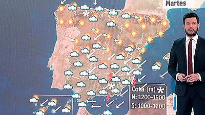Tiempo adverso en la Península y subida de temperaturas