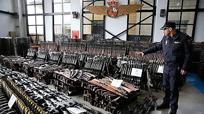 La Policía Nacional interviene un gran arsenal armamentístico con la ayuda de la Europol