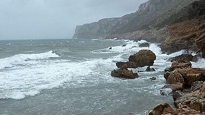 Viento fuerte en el Estrecho y en los litorales de Alborán y del sureste
