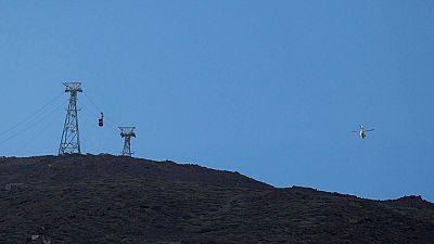 Cerca de 70 personas evacuadas de dos cabinas del Teleférico del Teide después de horas atrapadas