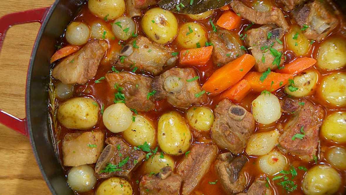 Receta de estofado de costillas con patatas - Arroz con verduras y costillas ...