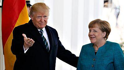Trump recibe en la Casa Blanca a Angela Merkel