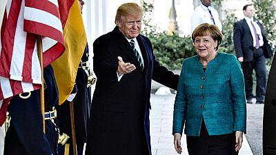 Trump y Merkel mantienen su primera reunión en la Casa Blanca