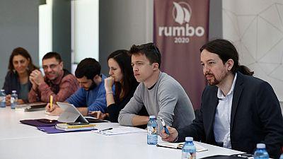 Pablo Iglesias ha reunido por primera vez a su Gobierno en la sombra