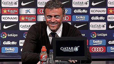 La anécdota de la jornada liguera se vivió en la sala de prensa del Camp Nou, donde un periodista de la CBS se quedó dormido mientras Luis Enrique daba su rueda de prensa tras el partido contra el Valencia.
