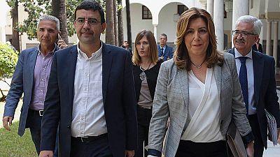 Reunión de la gestora con los equipos de Sánchez, López y Díaz para abordar la financiación de campañas