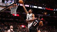 Kawhi Leonard encabeza la lista de los mejores mates de la semana con su impresionante canasta contra los Blazers. Anthony Davis y Russell Westbrook acompañan en el 'Top-3' al jugador de los Spurs.