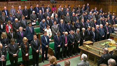 Minuto de silencio en el Parlamento británico