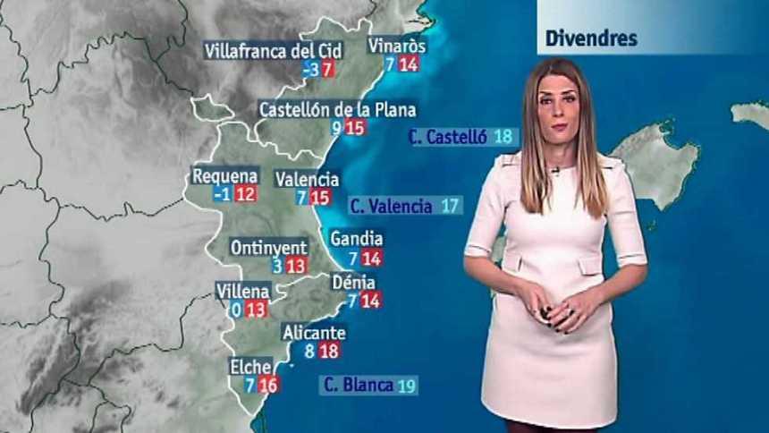 El tiempo en la Comunidad Valenciana - 23/03/17