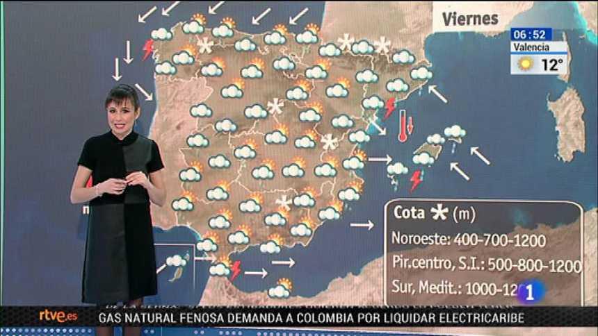 Nieve en muchos lugares y lluvias fuertes en Cataluña y Baleares para este viernes