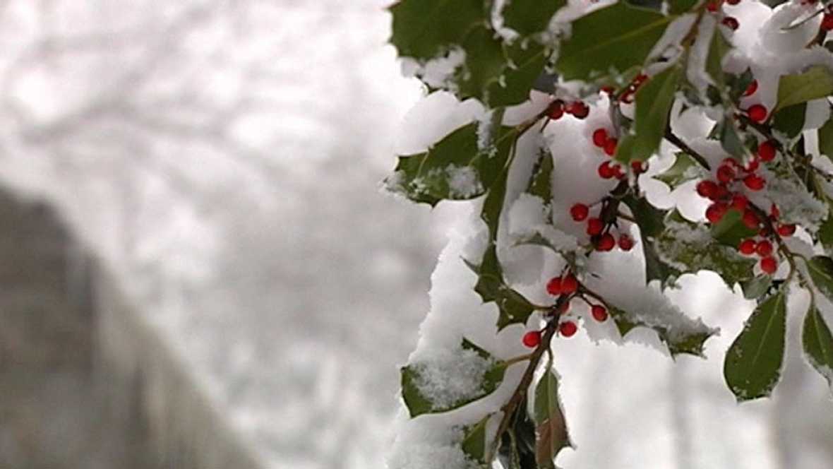 El frío y la nieve predomina en la península