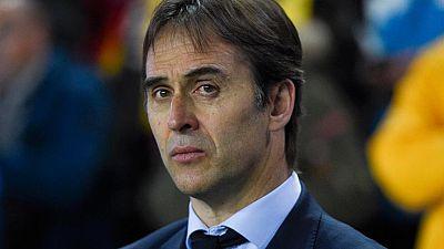 """El seleccionador español, Julen Lopetegui, ha asegurado que se van """"satisfechos y contentos porque se ha conseguido el objetivo principal del partido, que era ganar los tres puntos ante un buen equipo""""."""
