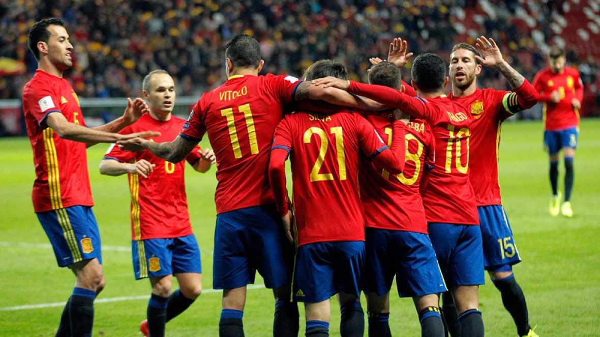 Resultado de imagen de Convincente victoria de España sobre Israel