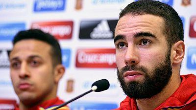 """El lateral de la seleccion Dani Carvajal ha asegurado que el próximo partido de la Roja contra Francia será """"muy bonito"""" y que contra los 'bleus' """"no hay amistosos""""."""