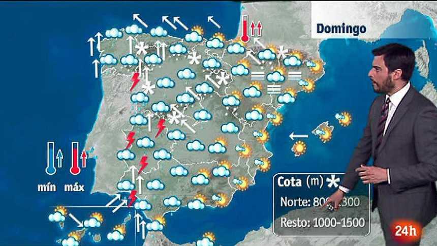 Lluvias en casi toda España y temperaturas al alza