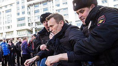 Detenido el líder opositor ruso Alexéi Navalni en una protesta contra la corrupción en Moscú