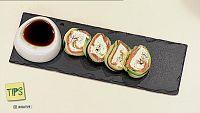 TIPS - Cocina - Maki frío de calabacín y salmón