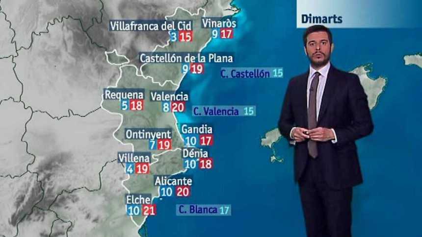 El tiempo en la Comunidad Valenciana - 27/03/17