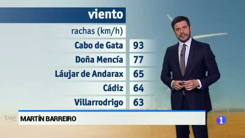 El tiempo en Andalucía - 27/03/17