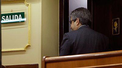 Homs queda apartado de su escaño de diputado por su condena de inhabilitación
