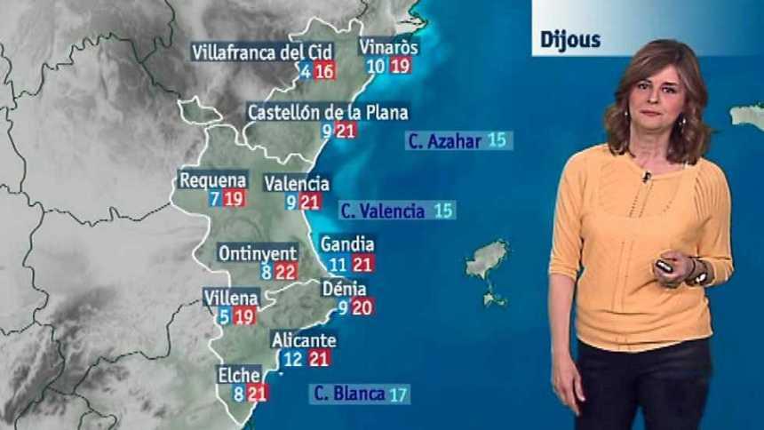 El tiempo en la Comunidad Valenciana - 29/03/17