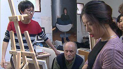 15 pintores chinos reciben esta semana los consejos magistrales de Antonio López