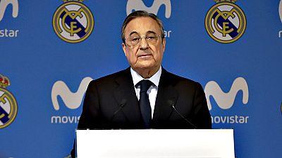 """El presidente del Real Madrid, Florentino Pérez, remarcó este  jueves que el estadio Santiago Bernabéu es un """"territorio de  emociones donde sólo importan los valores deportivos"""" y que el club  blanco es """"respetado por los principios que forman el AD"""