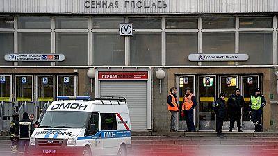 Rusia investiga si el autor de la explosión en el metro de San Petersburgo procedía de Asia Central