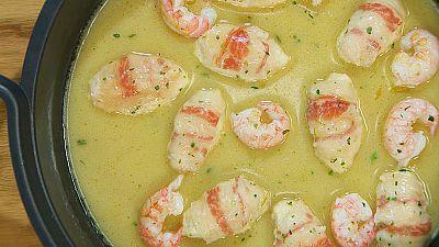 Torres en la cocina - Pollo con cigalitas en salsa de mantequilla