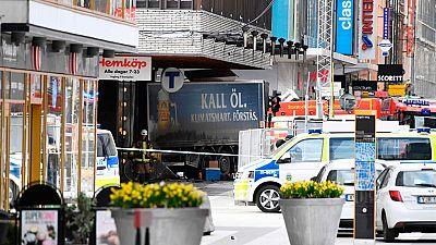 Varios muertos tras un atropello con camión en el centro de Estocolmo