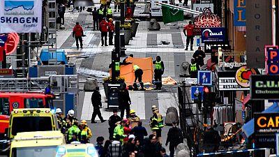 La gente huía despavorida ante el avance del camión por el centro de Estocolmo