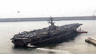 EE.UU. envía un portaviones hacia la Península de Corea
