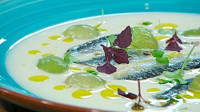 Torres en la cocina - Ajoblanco con uvas y sardina marinada