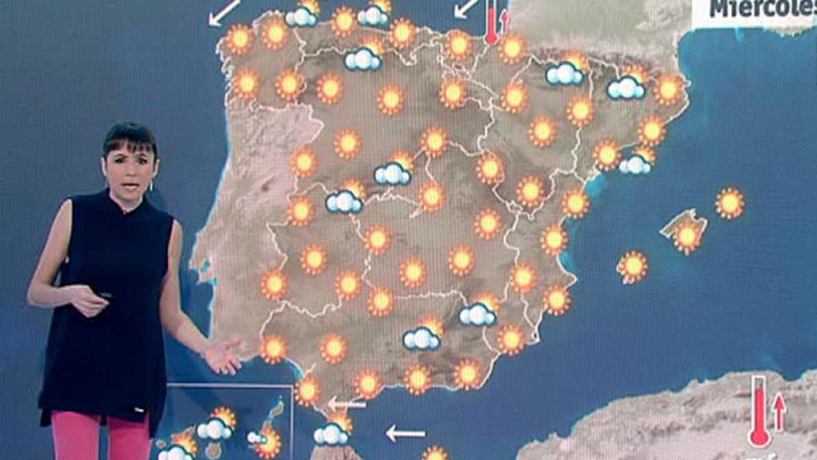 La Agencia Estatal de Meteorología (Aemet) prevé para este miércoles 12 de abril tiempo estable en todo el país, con cielo despejado en la mayor parte de las zonas. No obstante, se esperan intervalos de nubes bajas en la primera mitad del día en el n