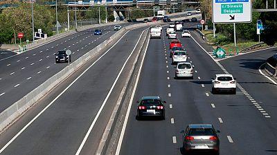 Retenciones kilométricas en Valencia y Madrid