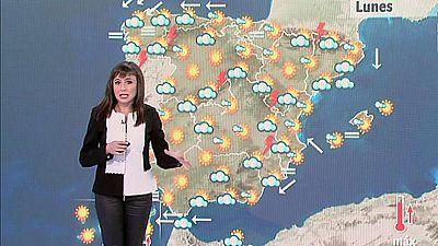 Temperaturas en ascenso, sobre todo en las islas Canarias, y tormentas en los sistemas montañosos