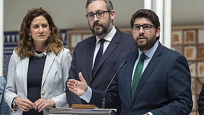 """López Miras confía en el acuerdo con Cs en Murcia y pide """"no perder más el tiempo"""""""