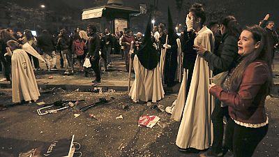 Sevilla analiza las estampidas durante la Madrugá y se felicita por la actuación policial