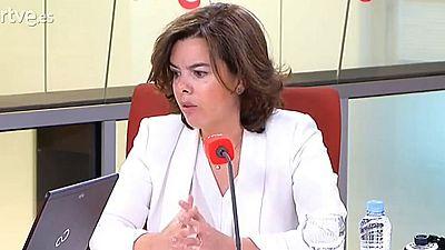 """Sáenz de Santamaría asegura que la Generalitat """"ha perdido la capacidad de representar a los catalanes"""""""