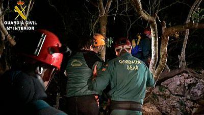 Rescatan al espeleólogo atrapado desde el sábado en una cueva de Manacor
