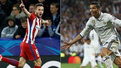 Tanto el Real Madrid como el Atlético han conseguido una plaza en las semifinales de la Champions después de eliminar al Bayern y al Leicester respectivamente.