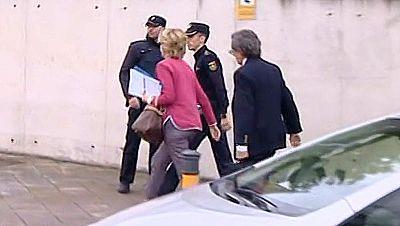 Esperanza Aguirre llega a la Audiencia Nacional para testificar en juicio del caso Gürtel