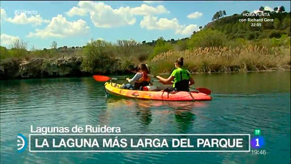 España Directo - Navegamos en kayak por las Lagunas de Ruidera