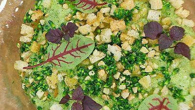 Torres en la cocina - Crema de brócoli con bacalao