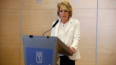 """Esperanza Aguirre dimite por """"no vigilar todo lo que debía"""" a Ignacio González"""