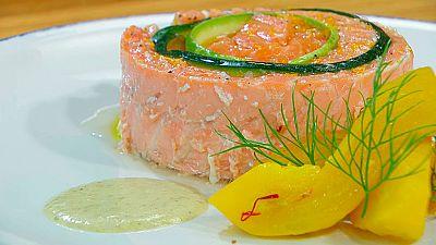 Torres en la cocina - Terrina de salmón con calabacín