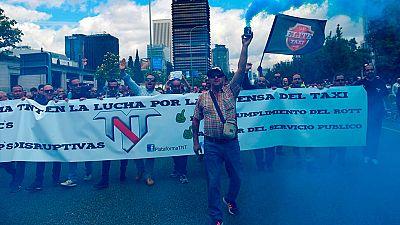 Los taxistas, en protesta contra el intrusismo laboral