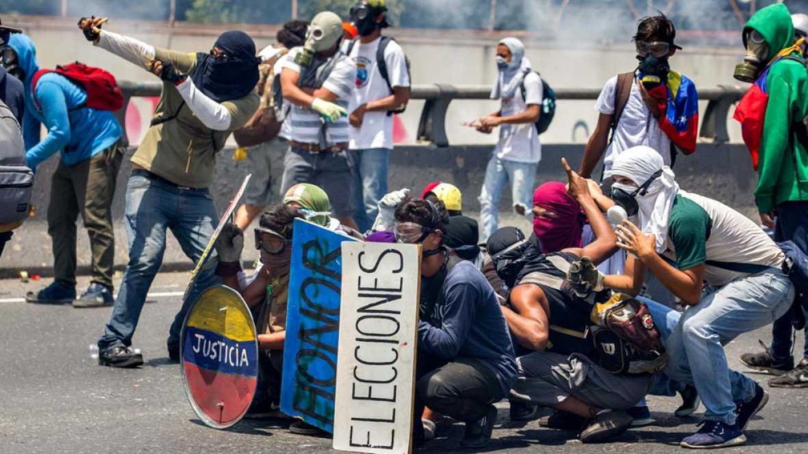 Las calles de Caracas viven una nueva jornada de protestas